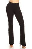 black cotton yoga pants