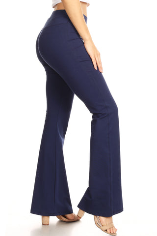 Eden Faux Leather Detail Ponte Pants