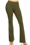 olive high waisted cotton pants