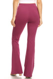 plum purple cotton flared legging