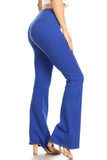blue high waisted yoga leggings
