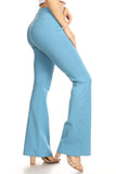 baby blue cotton yoga pants