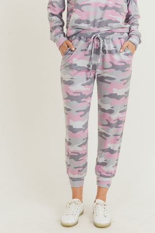 Camo Print High Rise Joggers