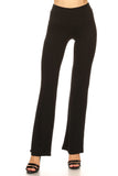 black high waisted flare trouser pants