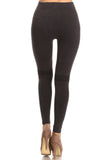 brown seamless distressed legging