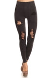 Live on the Edge Distressed Vintage Wash Moto Jeggings