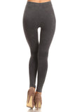 grey high waisted cotton legging