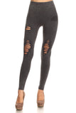 distressed moto denim legging