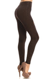 black cotton moto legging