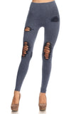 blue high waisted cotton legging