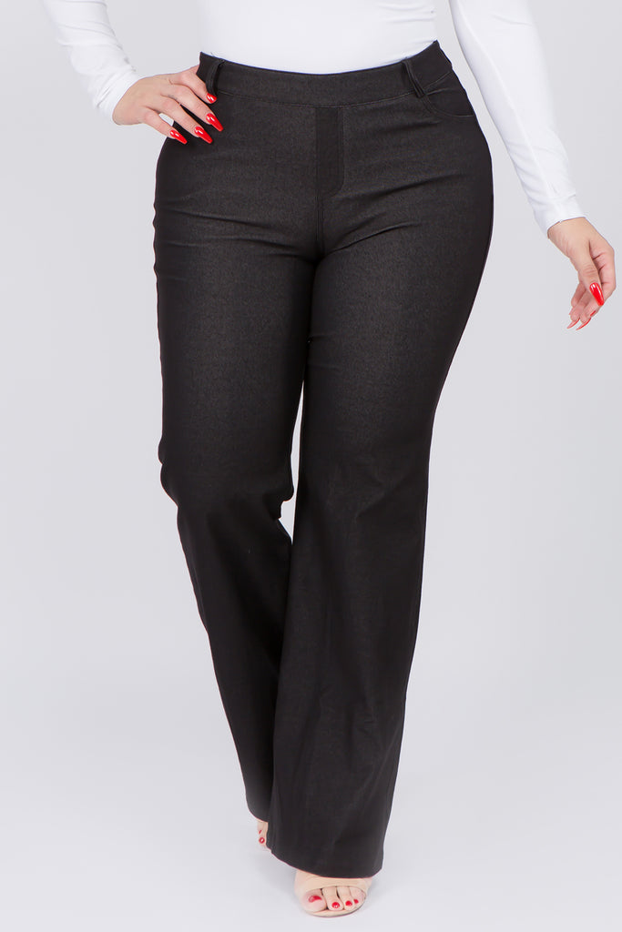 plus size flare jegging