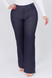 navy plus size flare jegging