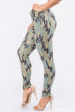 Camouflage 5-Pocket Basic Jeggings