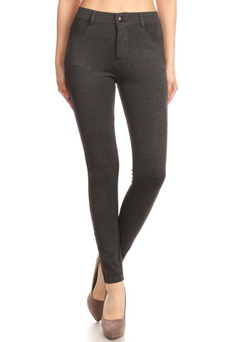 High Rise 5-Pocket Workout Leggings