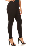 black plus size trousers