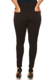 black pull on trouser pants plus size