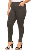dark grey plus size ponte pants