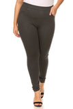 charcoal plus size trouser pants with pockets
