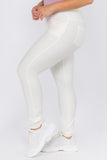 white skinny pants for plus size