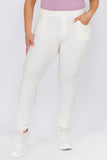 white plus size pants