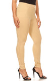 khaki plus size ponte slacks