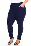 plus size navy ponte pants