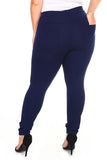 dark blue work pants for plus size women