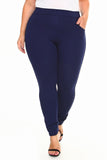 mid rise trouser pants plus size