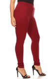 burgundy plus size pants