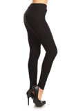 black ponte pants for women