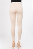 nude high rise ponte pants