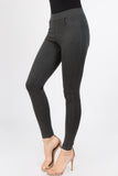 heather charcoal high rise ponte pants for women