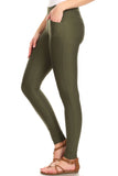 olive green ponte pants slacks trouser leggings professional formal workwear
