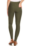 dark green ponte pants