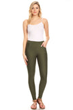 green ponte pants for women with pockets