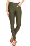 taupe green ponte pants