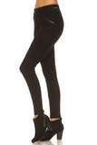 Hanlon Faux Leather Trim Ponte Pants