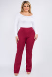 Plus Size Women's High-Rise Flare Bootcut Pants
