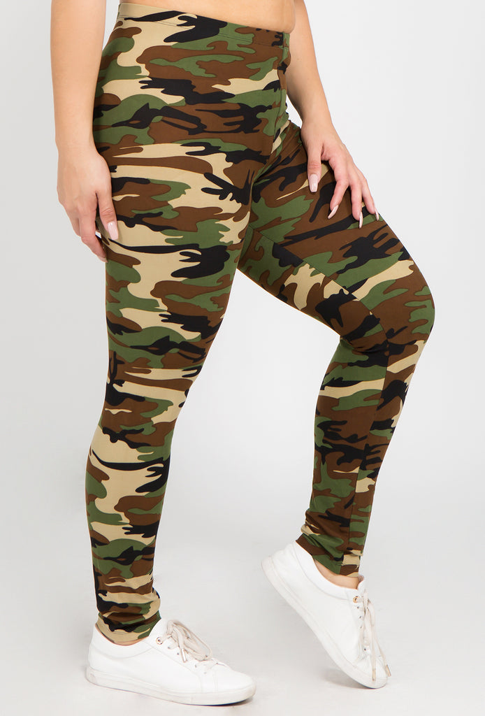 camouflage plus size womens leggings one size