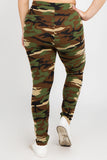 camo print leggings for plus size women