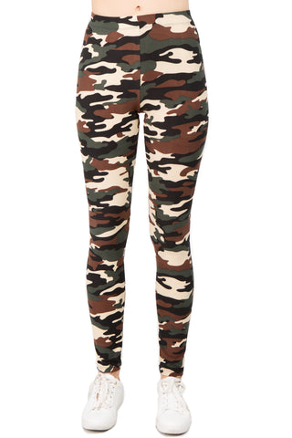 Take Command Camouflage Print Leggings