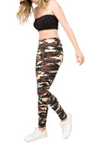 camouflage printed leggings for women one size