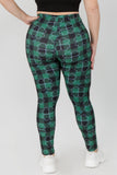 Plus Size Stay Lucky Green Clover Printed Leggings
