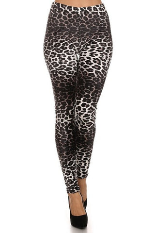 Velour Cheetah Print Leggings