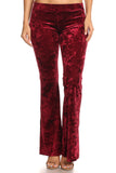 Glam's the Word Crushed Velvet Flared Pants