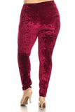 Plus Size Crushing On You Velvet Skinny Leggings