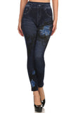 The Christiana Faux Denim Legging