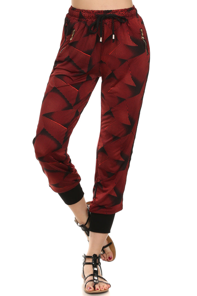 Alysia Red Graphic Jogger