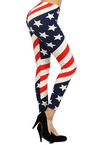 American Flag Legging
