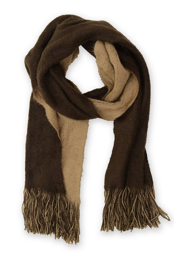 TAUPE TWO WAY SCARF